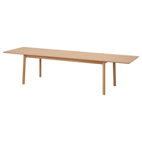 MELLANSEL Table extensible, plaqué chêne, 220/320x95 cm