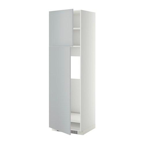 Metod Arm R F 2ptes Blanc Veddinge Gris 60x60x200 Cm Ikea