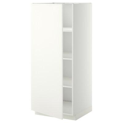 METOD Armoire avec tablettes, blanc/Häggeby blanc, 60x60x140 cm