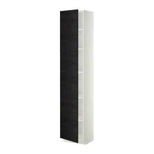 metod armoire avec tablettes tingsryd effet bois noir 40x37x200 cm ikea. Black Bedroom Furniture Sets. Home Design Ideas