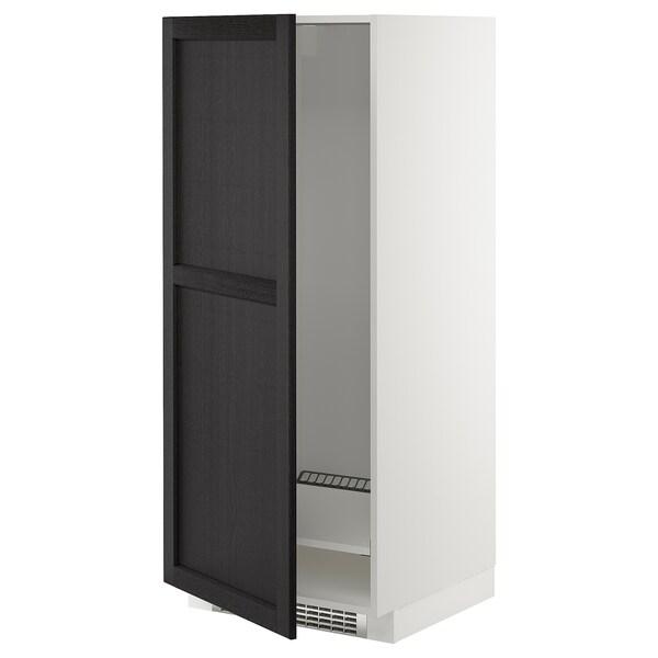 METOD Armoire pour réfrig./congélateur, blanc/Lerhyttan teinté noir, 60x60x140 cm