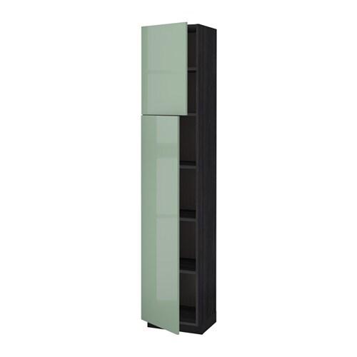 metod l ht tablette 2ptes effet bois noir kallarp brillant vert clair 40x37x200 cm ikea. Black Bedroom Furniture Sets. Home Design Ideas