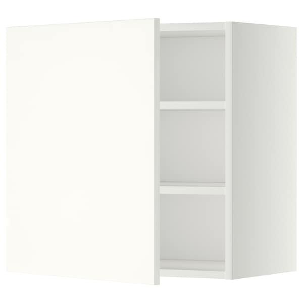 METOD Él mur+tabls, blanc/Häggeby blanc, 60x60 cm