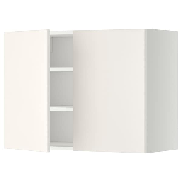 METOD Él mur tbls/2p, blanc/Veddinge blanc, 80x60 cm