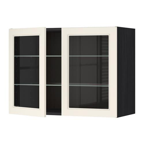 Metod l mur tblts 2pts vit effet bois noir hittarp - Mur blanc casse ...