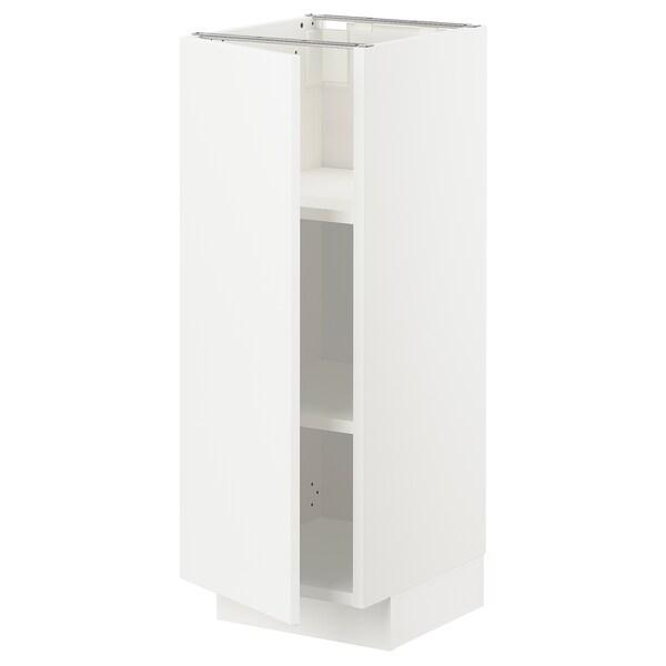 METOD Élément bas avec tablettes, blanc/Veddinge blanc, 30x37 cm