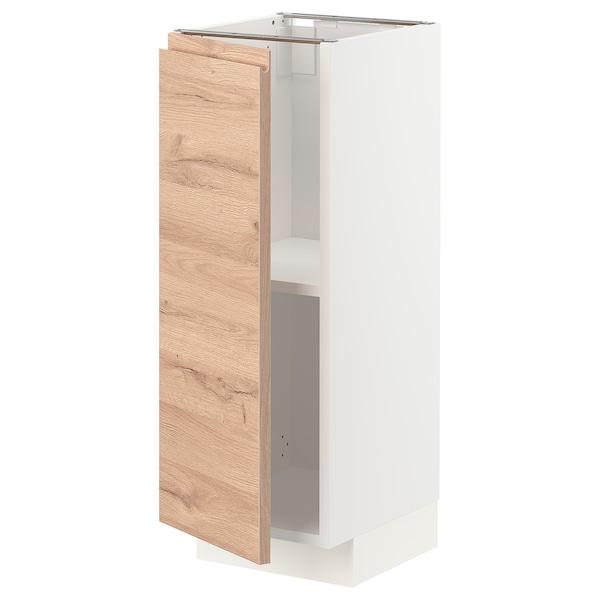 METOD Élément bas avec tablettes, blanc/Voxtorp motif chêne, 30x37 cm