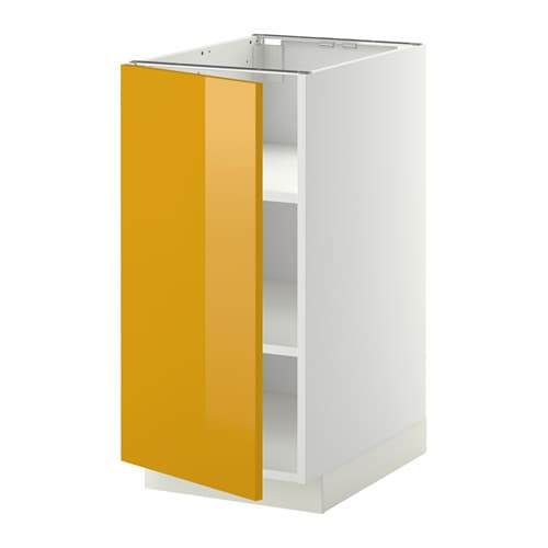 metod l ment bas avec tablettes blanc 40x60 cm j rsta brillant jaune ikea. Black Bedroom Furniture Sets. Home Design Ideas