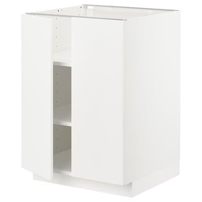METOD Élément bas tablette/2portes, blanc/Veddinge blanc, 60x60 cm