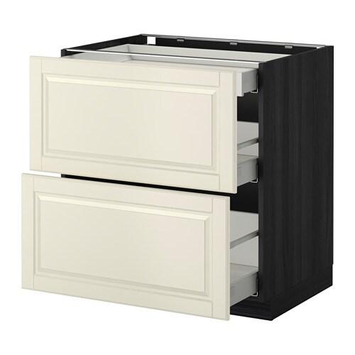 metod lt bas 2 faces 3 tiroirs effet bois noir bodbyn blanc cass 80x60 cm ikea. Black Bedroom Furniture Sets. Home Design Ideas