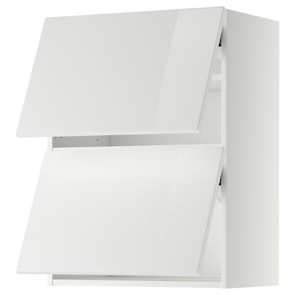 METOD Élt mur horiz+2ptes, blanc/Ringhult blanc, 60x80 cm