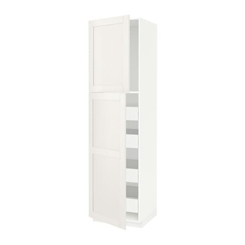 metod f rvara armoire 2 portes 4 tiroirs s vedal blanc 60x60x220 cm ikea. Black Bedroom Furniture Sets. Home Design Ideas