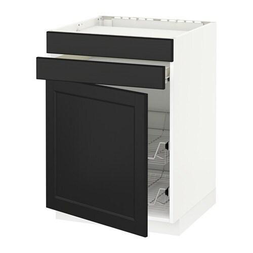Deco Chambre Voiture :  Élt bas tbl cuisstiroir2corb fil  blanc, Laxarby brun noir  IKEA
