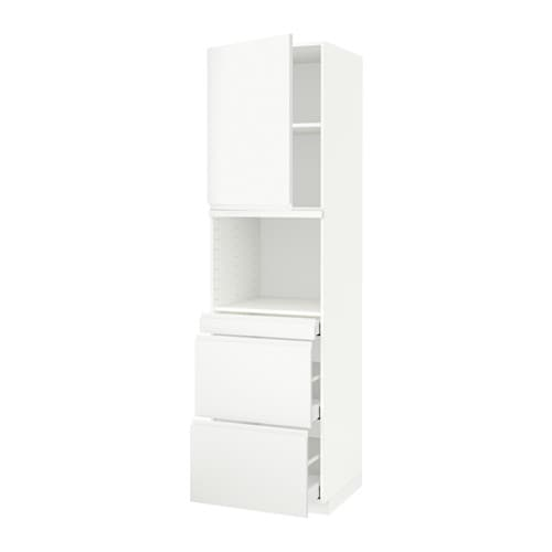 metod maximera armoire micro ondes av porte 3 tir voxtorp blanc 60x60x220 cm ikea. Black Bedroom Furniture Sets. Home Design Ideas