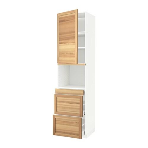 metod maximera armoire micro ondes av porte 3 tir torhamn naturel fr ne 60x60x240 cm ikea. Black Bedroom Furniture Sets. Home Design Ideas