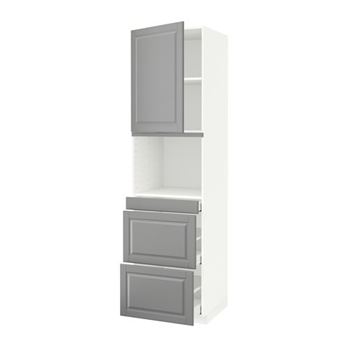 metod maximera armoire micro ondes av porte 3 tir blanc bodbyn gris 60x60x220 cm ikea. Black Bedroom Furniture Sets. Home Design Ideas