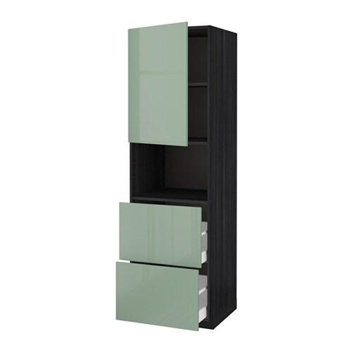 metod maximera armoire micro ondes av porte 2 tir effet bois noir kallarp brillant vert. Black Bedroom Furniture Sets. Home Design Ideas