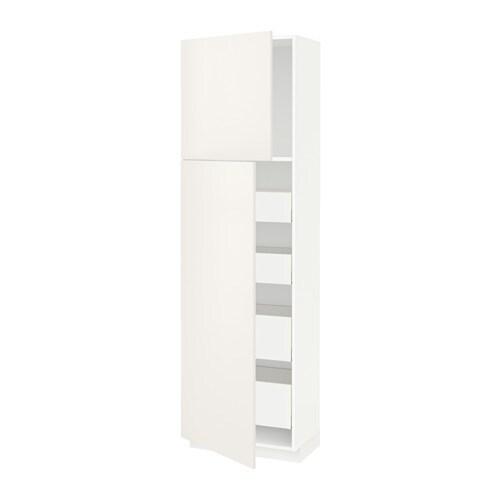 metod maximera armoire 2 portes 4 tiroirs veddinge blanc 60x37x200 cm ikea. Black Bedroom Furniture Sets. Home Design Ideas