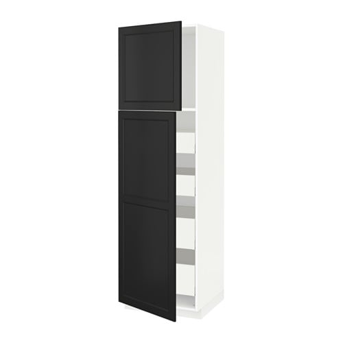 metod maximera armoire 2 portes 4 tiroirs laxarby brun. Black Bedroom Furniture Sets. Home Design Ideas
