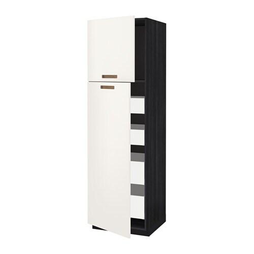 metod maximera armoire 2 portes 4 tiroirs effet bois noir m rsta blanc 60x60x200 cm ikea. Black Bedroom Furniture Sets. Home Design Ideas