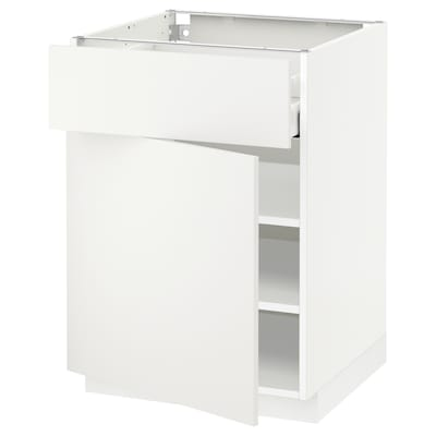 METOD / MAXIMERA élément bas avec tiroir/porte blanc/Häggeby blanc 60.0 cm 61.6 cm 88.0 cm 60.0 cm 80.0 cm