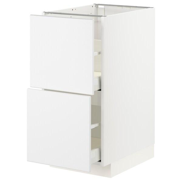 METOD / MAXIMERA élt bas 2 faces/2 tiroirs hauts blanc/Kungsbacka blanc mat 40.0 cm 61.6 cm 88.0 cm 60.0 cm 80.0 cm