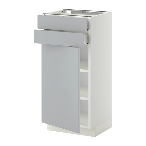 Metod Maximera L Bas Pte 2 Tir Blanc Veddinge Gris 40x37 Cm Ikea