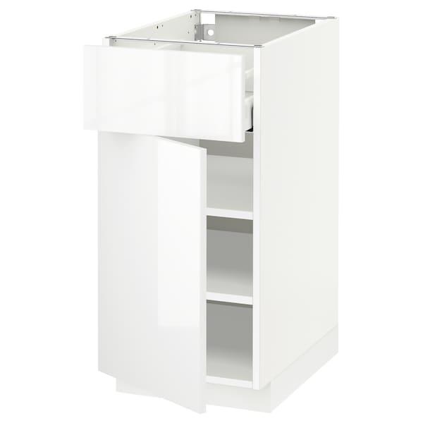 METOD / MAXIMERA Élément bas avec tiroir/porte, blanc/Ringhult blanc, 40x60 cm