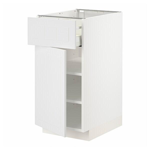 METOD / MAXIMERA Élément bas avec tiroir/porte, blanc/Stensund blanc, 40x60 cm