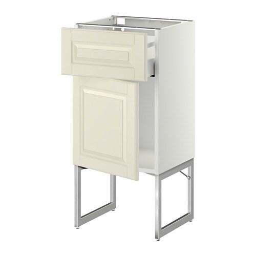 metod maximera l ment bas avec tiroir porte bodbyn blanc cass 40x37x60 cm ikea. Black Bedroom Furniture Sets. Home Design Ideas
