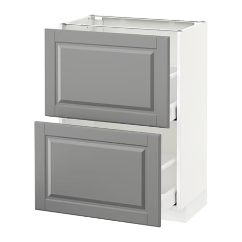 Metod maximera l ment bas 2 tiroirs bodbyn gris for Element bas cuisine ikea