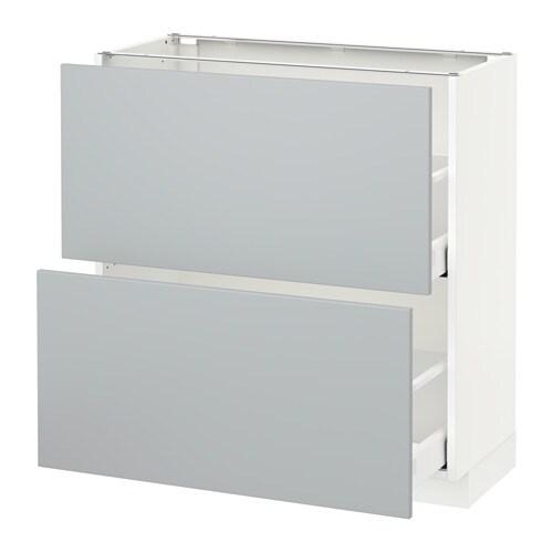 Metod Maximera L Ment Bas 2 Tiroirs Blanc Veddinge Gris 80x37 Cm Ikea
