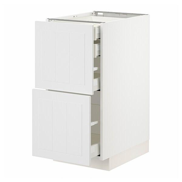 METOD / MAXIMERA Élt bas 2faces/2tir bas+1moy+1haut, blanc/Stensund blanc, 40x60 cm