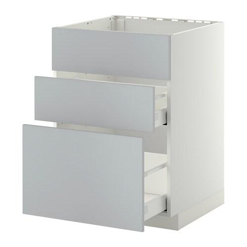 metod maximera lt bas pr vier 3faces 2tiroirs blanc veddinge gris 60x60 cm ikea. Black Bedroom Furniture Sets. Home Design Ideas