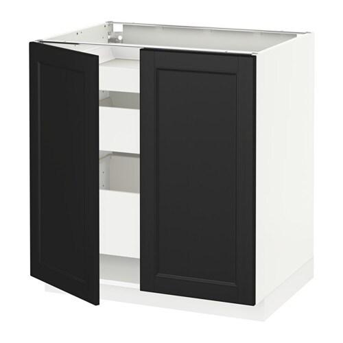 Deco Chambre Voiture :  cuisine et façades  Système METOD Meubles bas, hauteur caisson 80