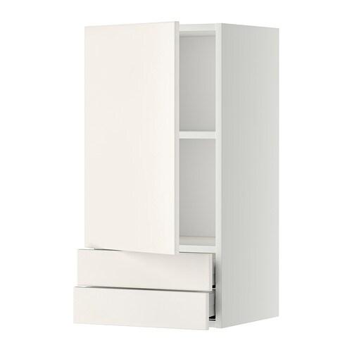 Metod maximera lt mural avec porte 2tiroirs veddinge blanc 40x80 cm ikea - Porte magazine mural ikea ...