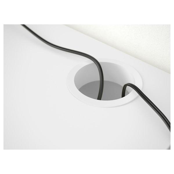 MICKE bureau blanc 142 cm 50 cm 75 cm 50 kg