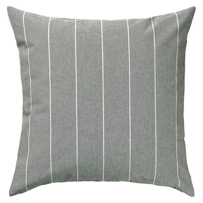 MILDRUN Housse de coussin, gris/rayé, 50x50 cm