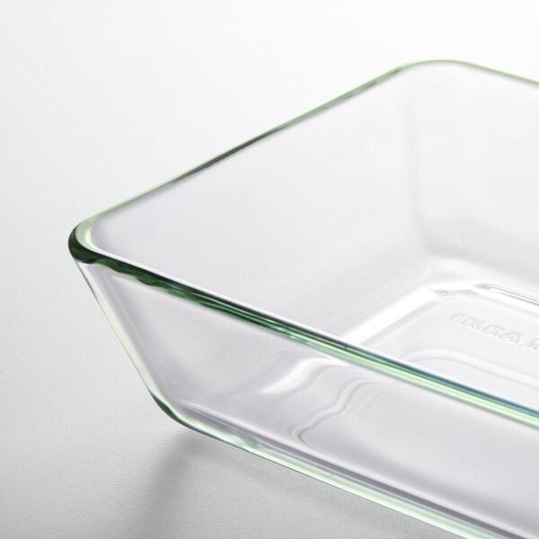 MIXTUR Plat /plat à four, verre transparent, 27x18 cm