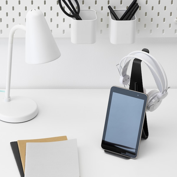MÖJLIGHET Support tablette/casque audio, noir