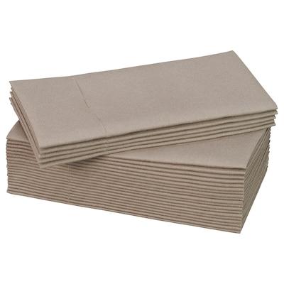 MOTTAGA Serviettes en papier, beige, 38x38 cm