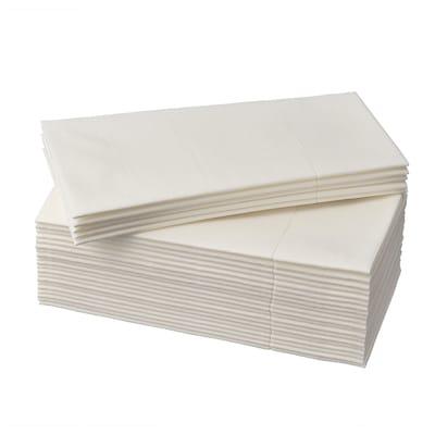 MOTTAGA Serviettes en papier, blanc, 38x38 cm
