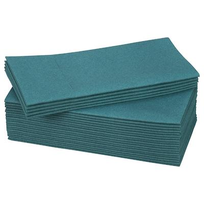 MOTTAGA Serviettes en papier, bleu/vert, 38x38 cm