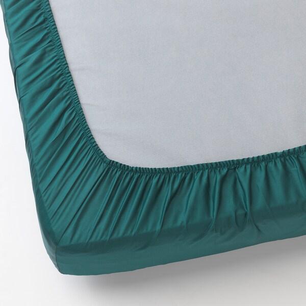 NATTJASMIN drap housse vert foncé 310 pouce carré 200 cm 140 cm