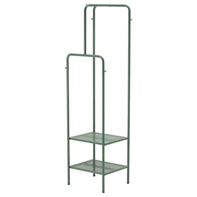 NIKKEBY Portant, gris vert, 45x170 cm