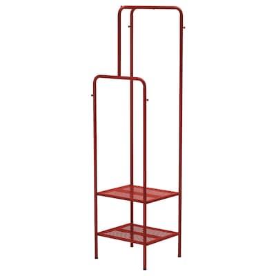 NIKKEBY Portant, rouge, 45x170 cm