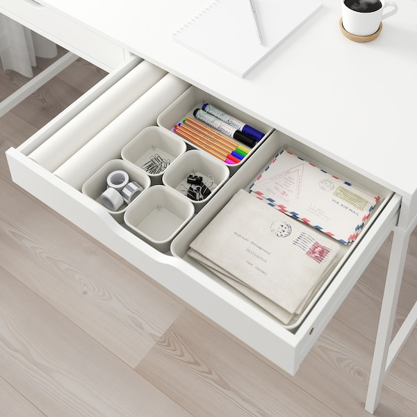 NOJIG Organiseur, plastique/beige, 10x10x5 cm