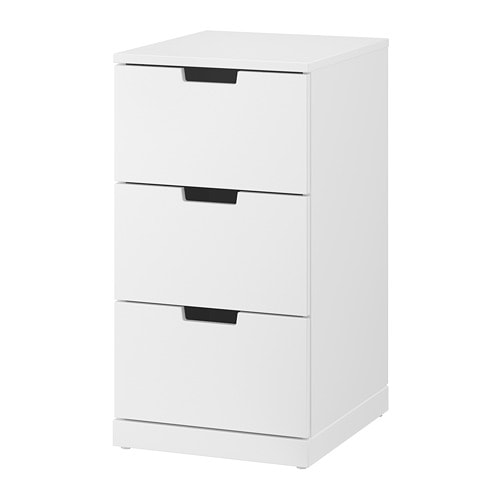 nordli commode 3 tiroirs blanc ikea. Black Bedroom Furniture Sets. Home Design Ideas