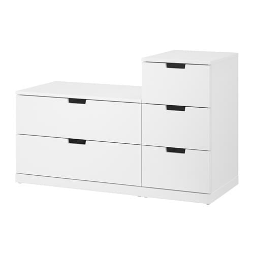 nordli commode 5 tiroirs blanc ikea. Black Bedroom Furniture Sets. Home Design Ideas