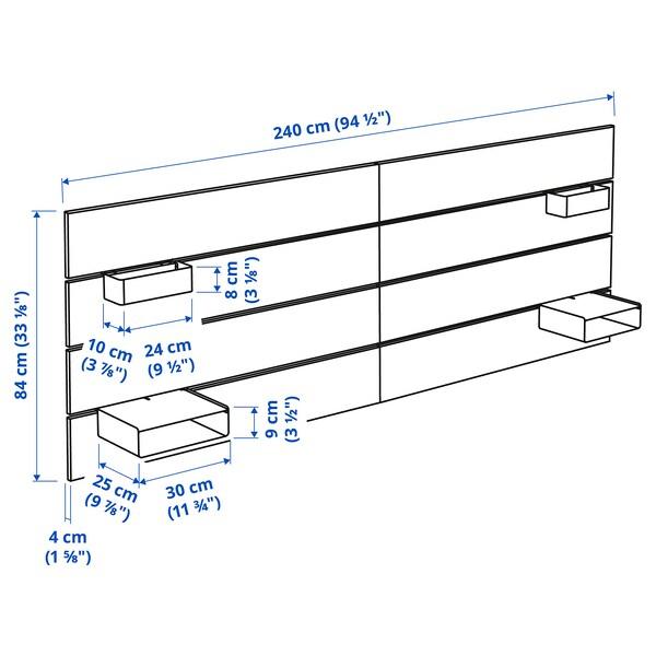 NORDLI Tête de lit, blanc, 140/160 cm